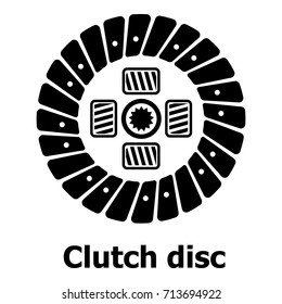 Clutch disc icon. Simple illustration of clutch disc vector icon for web