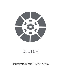 Clutch icon. Trendy Clutch logo concept on white background from Luxury collection. Suitable for use on web apps, mobile apps and print media.