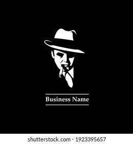 Clyde Portrait Silhouette Logo Design