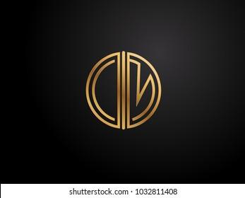 CM circle shape gold color design