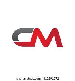 CM company group linked letter logo