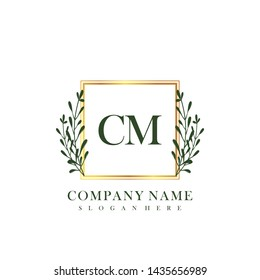 CM Initial beauty floral logo template