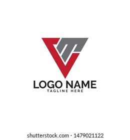 CM letter design logo template