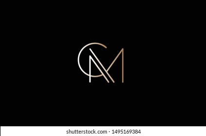 CM Letter Logo Design with Creative Modern Trendy Typography