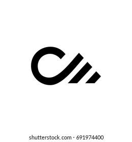 cm letter logo. dm letter logo