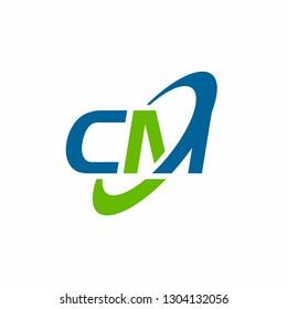 CM logo initial letter design template vector illustration
