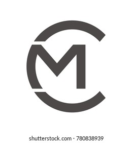 CM logo initial letter design template vector illustration