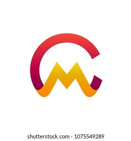 CM Logo, Initial Letter Logo Template, Letter C + Letter M Logo