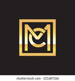 CM MC initial company, golden square frame