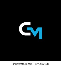 CM or MC abstract outstanding professional business awesome artistic branding company different colors illustration logo