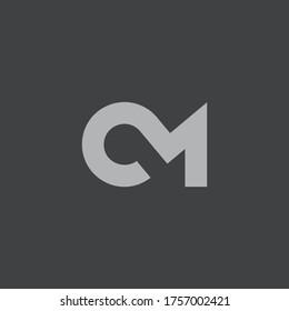 CM vector Logo editable with Adobe Illustrator