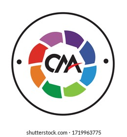 cma organization logo conceptual design illustration vector