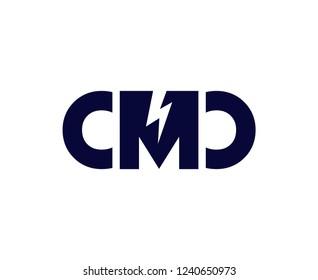 CMD initial logo with lightning