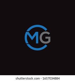 CMG , MCG unique monogram style logo design with blue and grey.