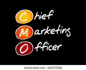 CMO - Chief Marketing Officer acronym, business concept background