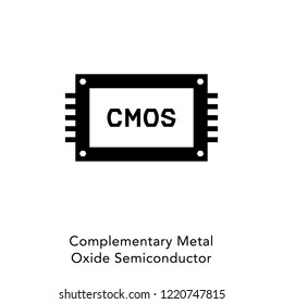 CMOS icon vector. Complementary Metal Oxide Semiconductor icon.