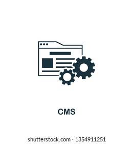 Cms icon. Creative element design from content icons collection. Pixel perfect Cms icon for web design, apps, software, print usage.