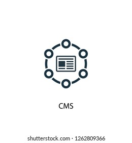 CMS icon. Simple element illustration. CMS concept symbol design. Can be used for web and mobile.