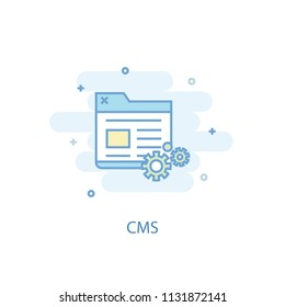 CMS line trendy icon. Simple line, colored illustration. CMS symbol flat design from Online business set. Can be used for UI/UX