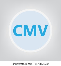 CMV (Cytomegalovirus) acronym- vector illustration