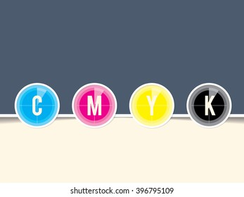 Cmyk background template with countdown design and copy space
