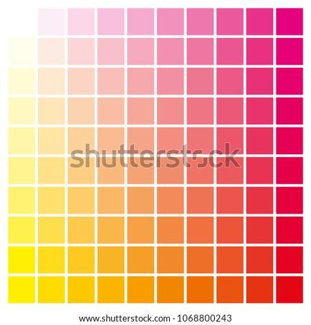 Cmyk Color Chart Use Prepress Printing Stock Vector (Royalty Free ...