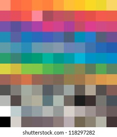 Cmyk color Tones Dynamic Transformations. Vector illustration