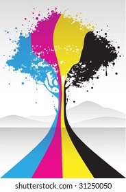 cmyk color tree