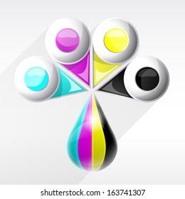 CMYK colors vector