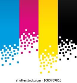 CMYK Digital Colour Lines Background Design