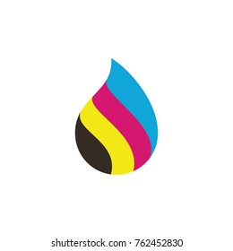 cmyk drop color logo