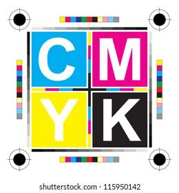 CMYK letters
