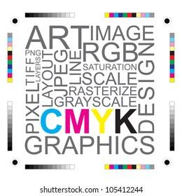 CMYK letters design art image