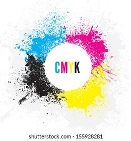 CMYK Paint Splatters
