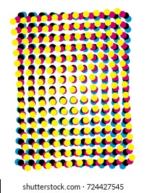 cmyk moiré - poorly set process colors - improperly rotated for printing