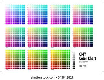 CMYK Press Color Chart