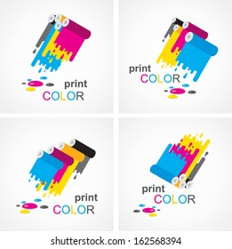 cmyk print colored roll element set