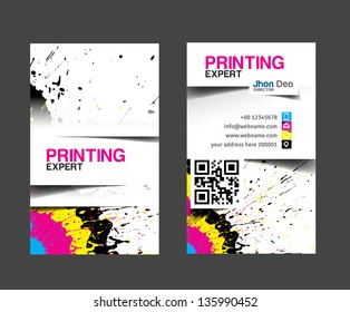 cmyk printing business card