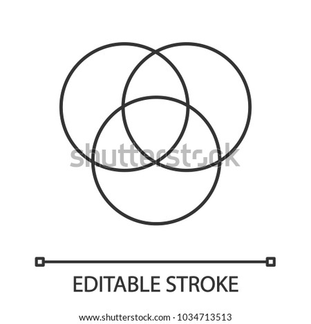 Cmyk Rgb Color Circles Linear Icon Stock Vector Royalty Free