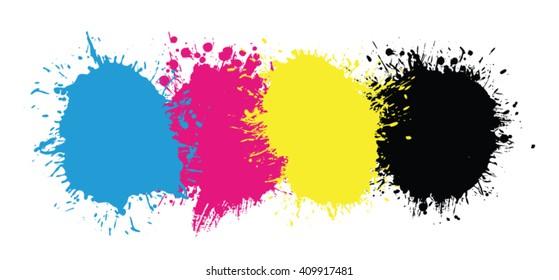 CMYK splatters