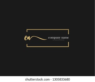 CN Initial handwriting logo vector. Hand lettering for designs.