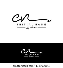 CN Initial letter handwriting and signature logo.