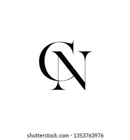 CN minimalist logo illustration