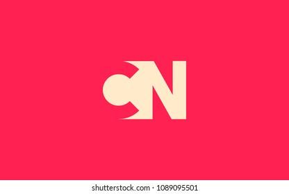 CN NC Letter Initial Logo Design Template
