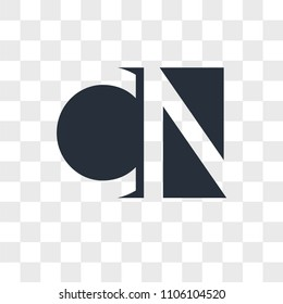 CN NC vector icon isolated on transparent background, CN NC logo concept