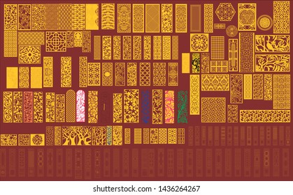 cnc laser cut pattern design for wall cutting texture for wood