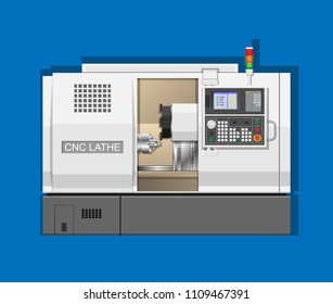 CNC lathe Machine mechanism workshop technology button center knob key axis test tool PLC drill steel gear line setup heavy turret metal motor chuck clamp cutter display monitor setting remote operate