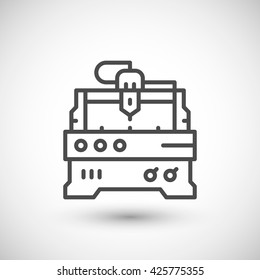 Cnc milling machine line icon