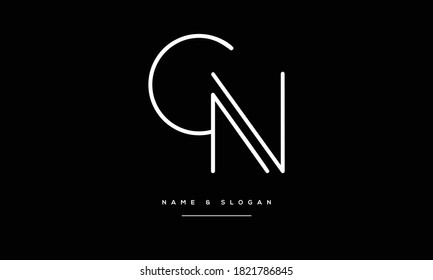 CN,NC C,N  Abstract Letters Logo monogram