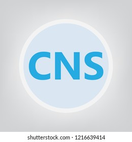 CNS (central nervous system) acronym- vector illustration